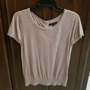 Heather Brown Cap-sleeve Sweater